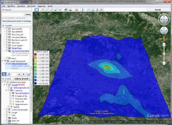 MMS WinDimula - esportazione su Google Earth